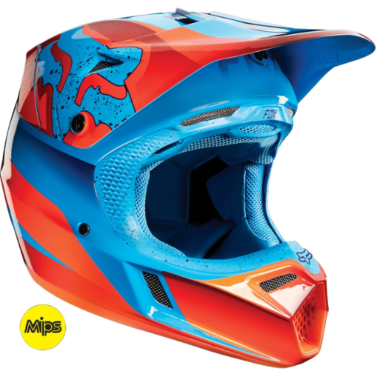 FOX V1 Motocross Helmet NEW KTM Orange Lg XL MX Dirt Bike ATV Race Off Road