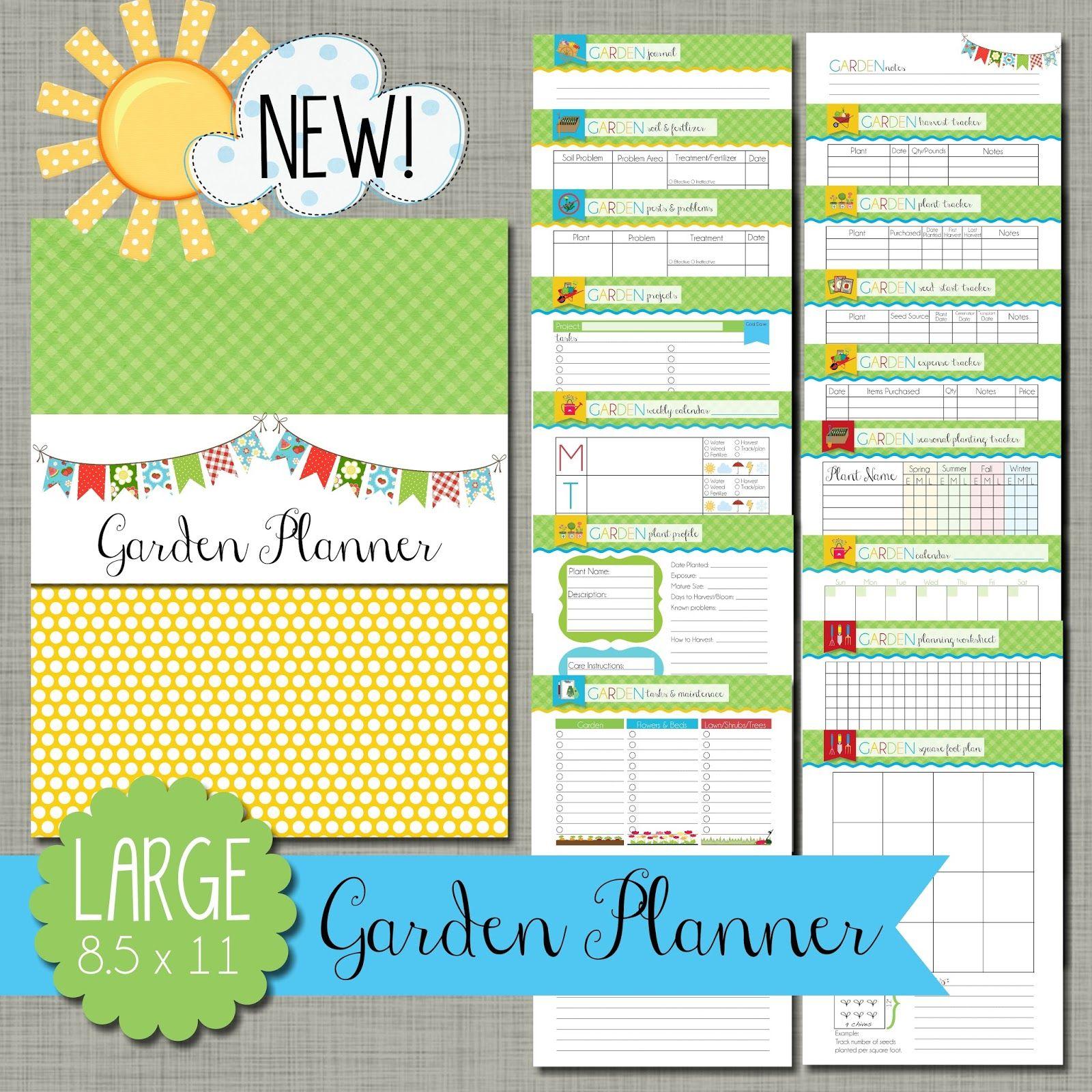 photo about Printable Garden Planner identified as Printable Back garden Planner versus ThePolkaDotPosie