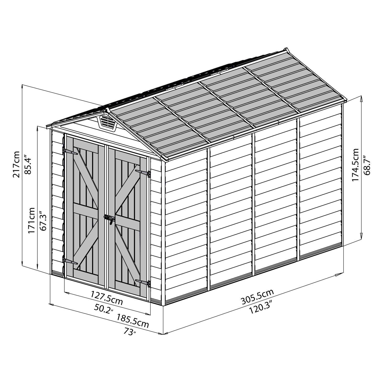 Palram Skylight Storage Shed