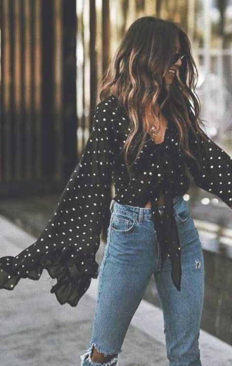 Polka Dot street style fashion  fashion week  Pinterest fromluxewithlove