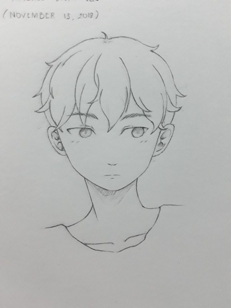 Male Anime Drawing Art Sketches Drawings Anime Drawings