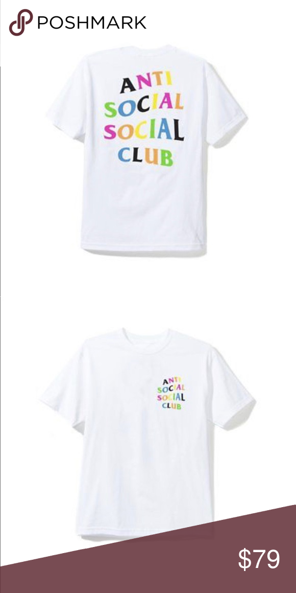 8592b52d0e96 Anti Social Social Club Rainy Dayz Tee white T-Shirt ASSC Size M Anti  Social Social Club Tops Tees - Short Sleeve