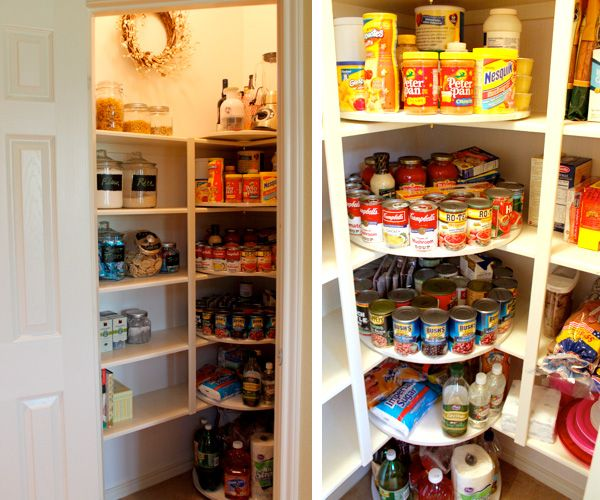 A Pantry Rescued by Lazy Susans Pantry Pantry closet and