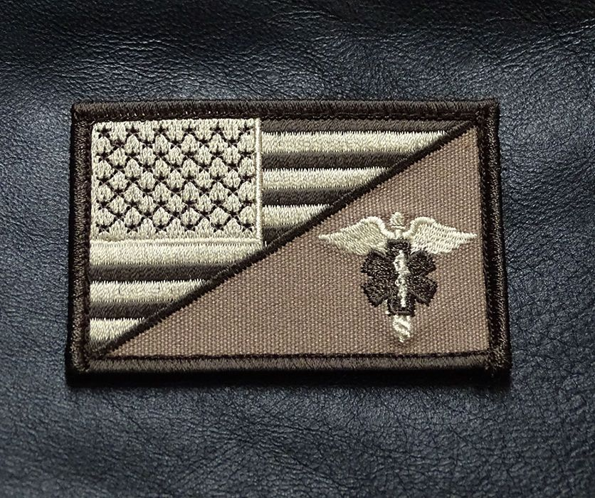 MEDIC EMT EMS USA FLAG TACTICAL COMBAT MORALE 3 INCH VELCRO® BRAND PATCH b1a0a752019