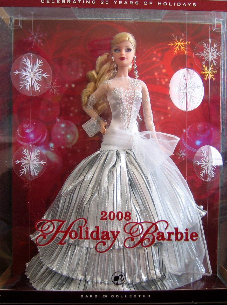 4c83734e297 AmazonSmile  Holiday Barbie Doll 2008 Collector Edition - Celebrating 20  Years of Holidays (2008)  Toys   Games