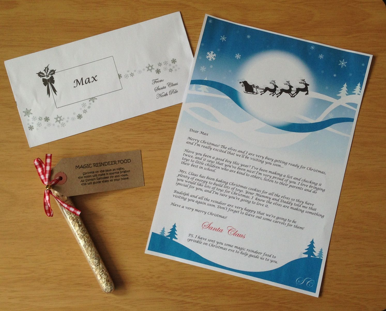 Personalised letter from santa magic reindeer food my handmade personalised letter from santa magic reindeer food spiritdancerdesigns Image collections