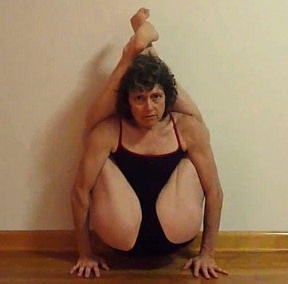 Kristel legs behind head naked women young man