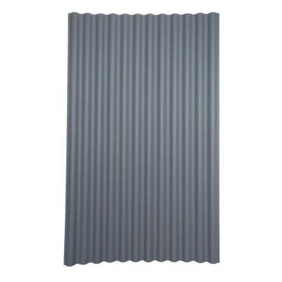 Ondura 6 Ft 7 In X 4 Ft Asphalt Corrugated Roof Panel In Gray 150 The Home Depot Roof Panels Corrugated Roofing Metal Roof Panels