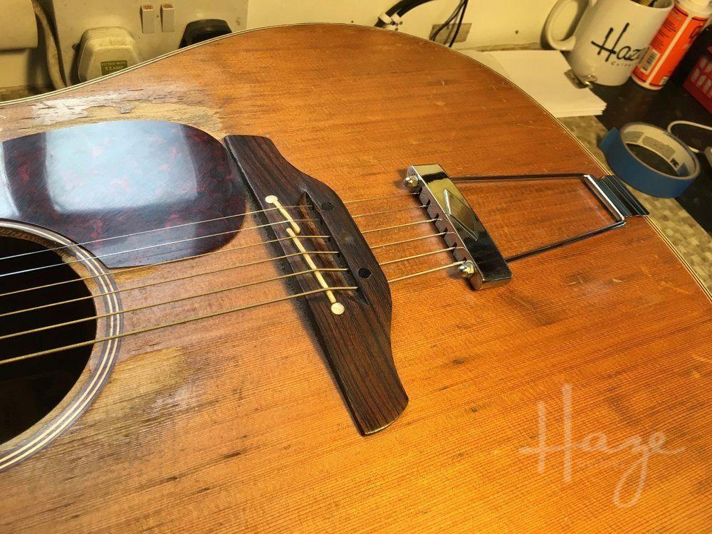 Unusual Acoustic Guitar Bridge Repair Haze Guitars In 2020 Guitar Acoustic Guitar Acoustic