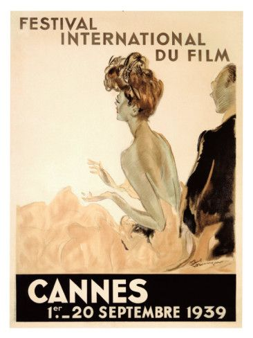 Wall art :: Vintage film/hollywood glamour ::Festival International du Film, Cannes, 1939 Giclee Print
