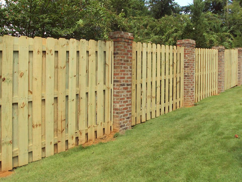 Wood Fence Anniston Al The Fence Place In 2019 Fence