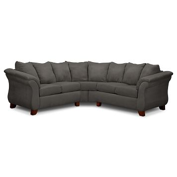 Adrian Graphite Ii Upholstery 2 Pc Sectional Value City Furniture