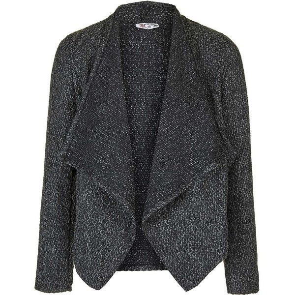 Tweed Waterfall Jacket by Wal G (3.460 RUB) ❤ liked on Polyvore ...