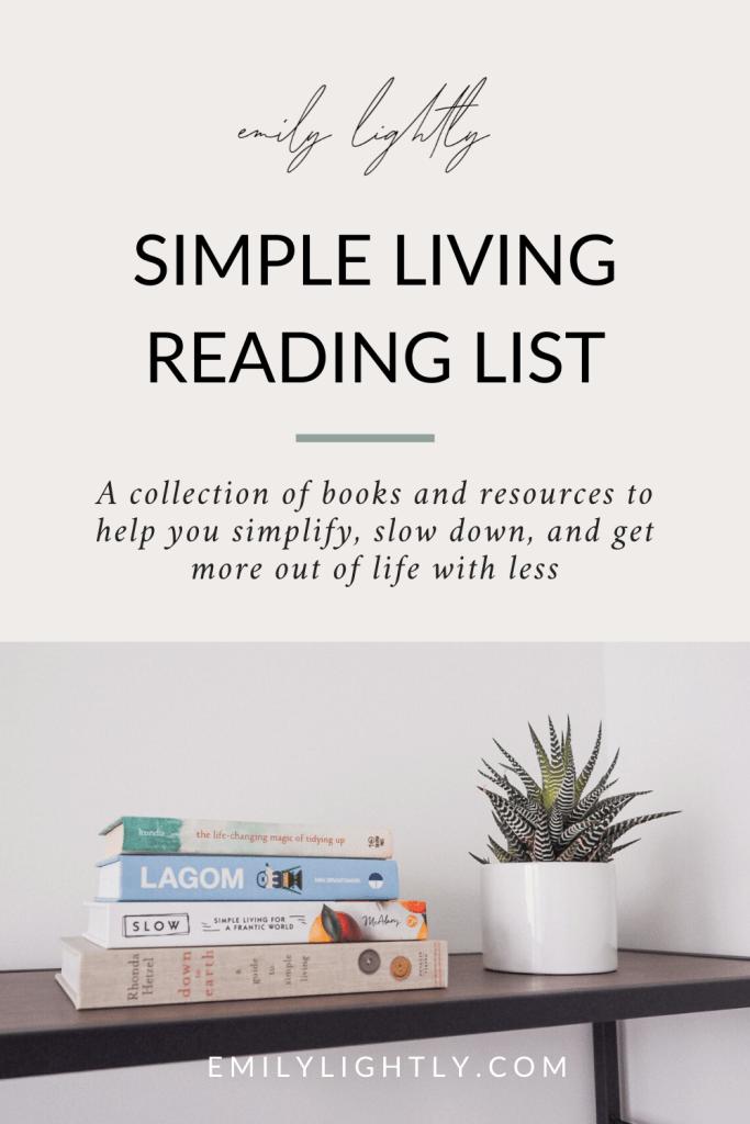 Simple Living Reading List - Emily Lightly