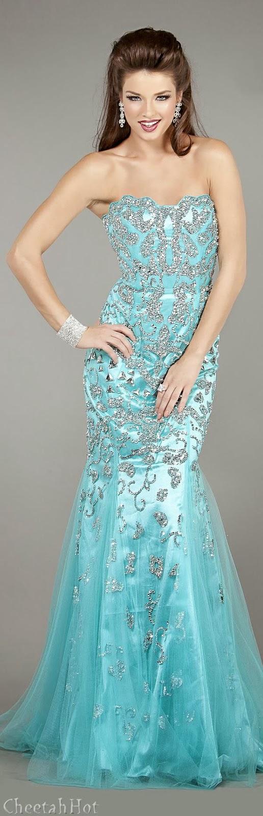 JOVANI - Aqua Gown | Dazzling Dresses & Gowns | Pinterest | Aqua ...