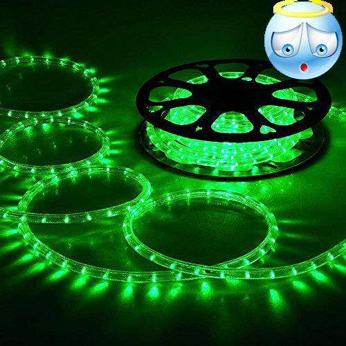 Delightful Ft LED White/Green Rope Light Indoor Outdoor Home Holiday Christmas Party  Disco Restaurant Cafe Decoration