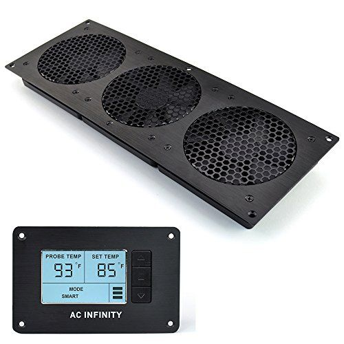 Special Offers   AC Infinity AIRPLATE T9 Quiet Cooling Fan System With  Thermostat Control For Home. Media CabinetThermostatsHome TheatersInfinity