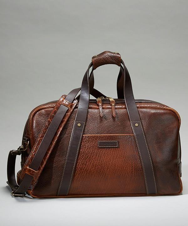 Coronado Leather Bison Weekender Bag