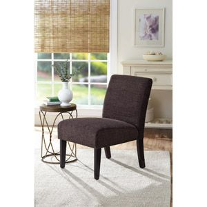 Better Homes And Gardens Accent Chair Solid Brown Bridgets Office