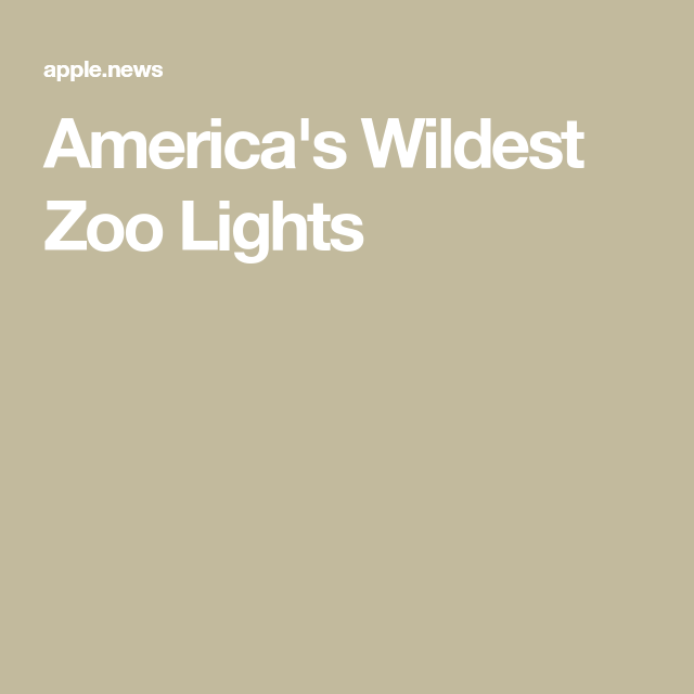 America's Wildest Zoo Lights — Travel Channel Zoo lights