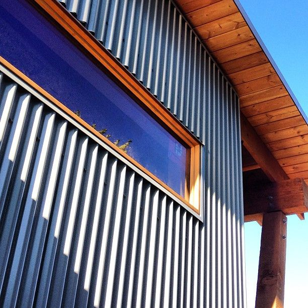 Corrugated metal siding garage pinterest metal for Horizontal metal siding