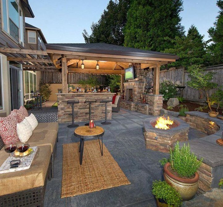Incredible Outdoor Kitchen Design Ideas On Backyard: Your House Generally Has Its Own Figure. . Moreov