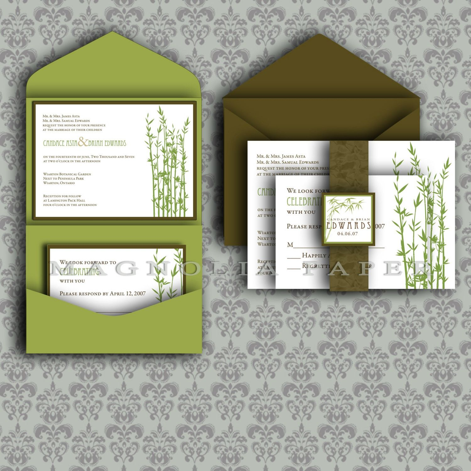 Free Wedding Ideas: DIY Wedding Invitations Templates