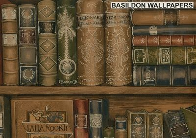 Bookcase Wallpapers And Borders To Online