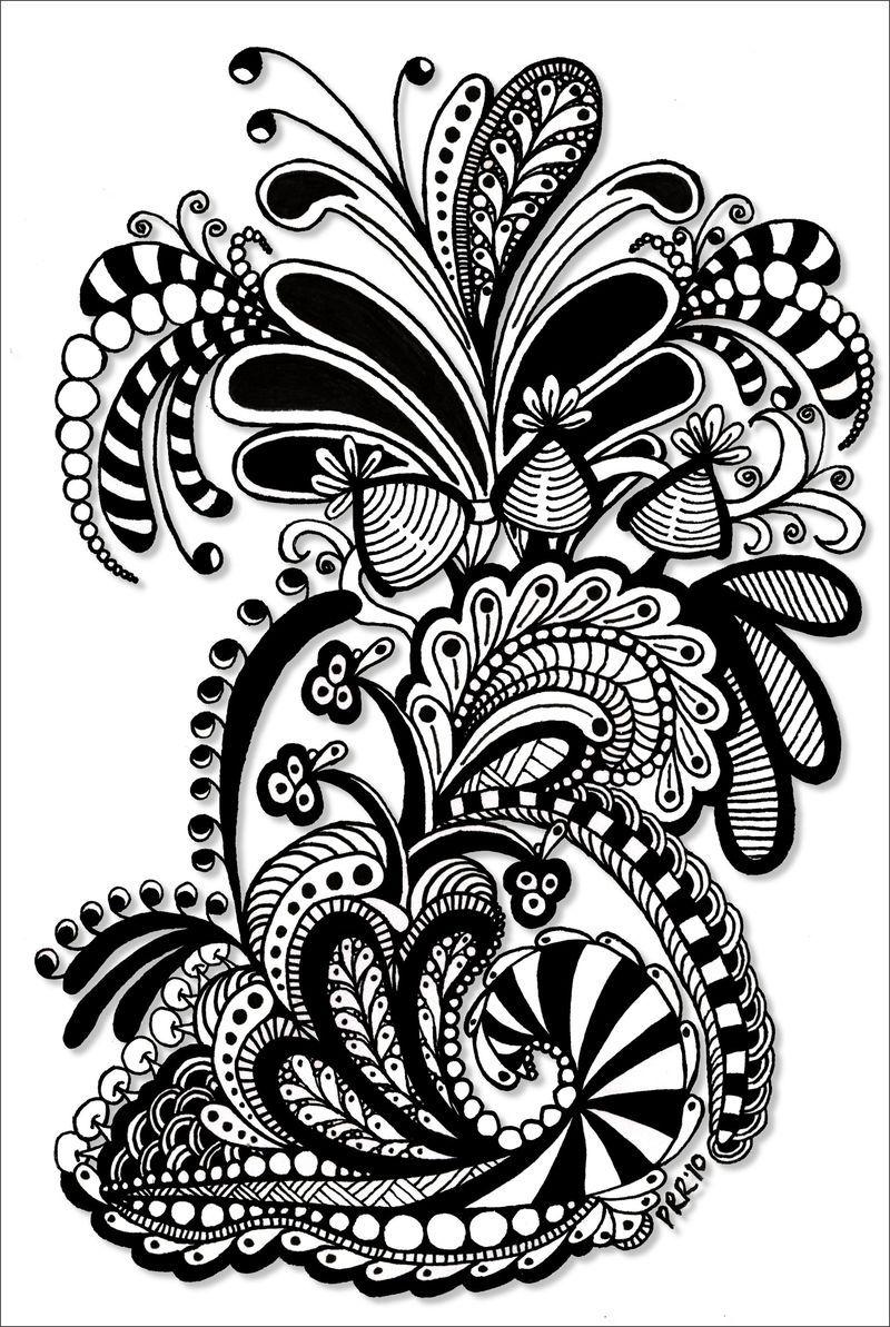 Tangle0006shadow | black | Pinterest | Mandalas, Tatuajes de ...