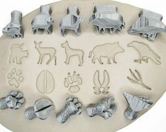 Decorative ceramic/pottery/clay tools. Stamps made from bioplastic by Rélyéf - animal pattern - easy use for kids and beginners  #ceramics #potterytools #relyefcz #DIY #animals