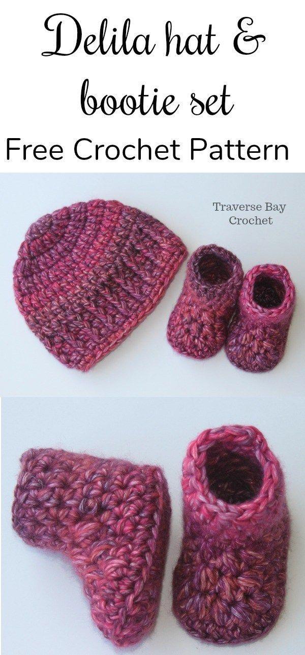 Quick Easy Delila Crochet Baby hat - #crochetbabyboots