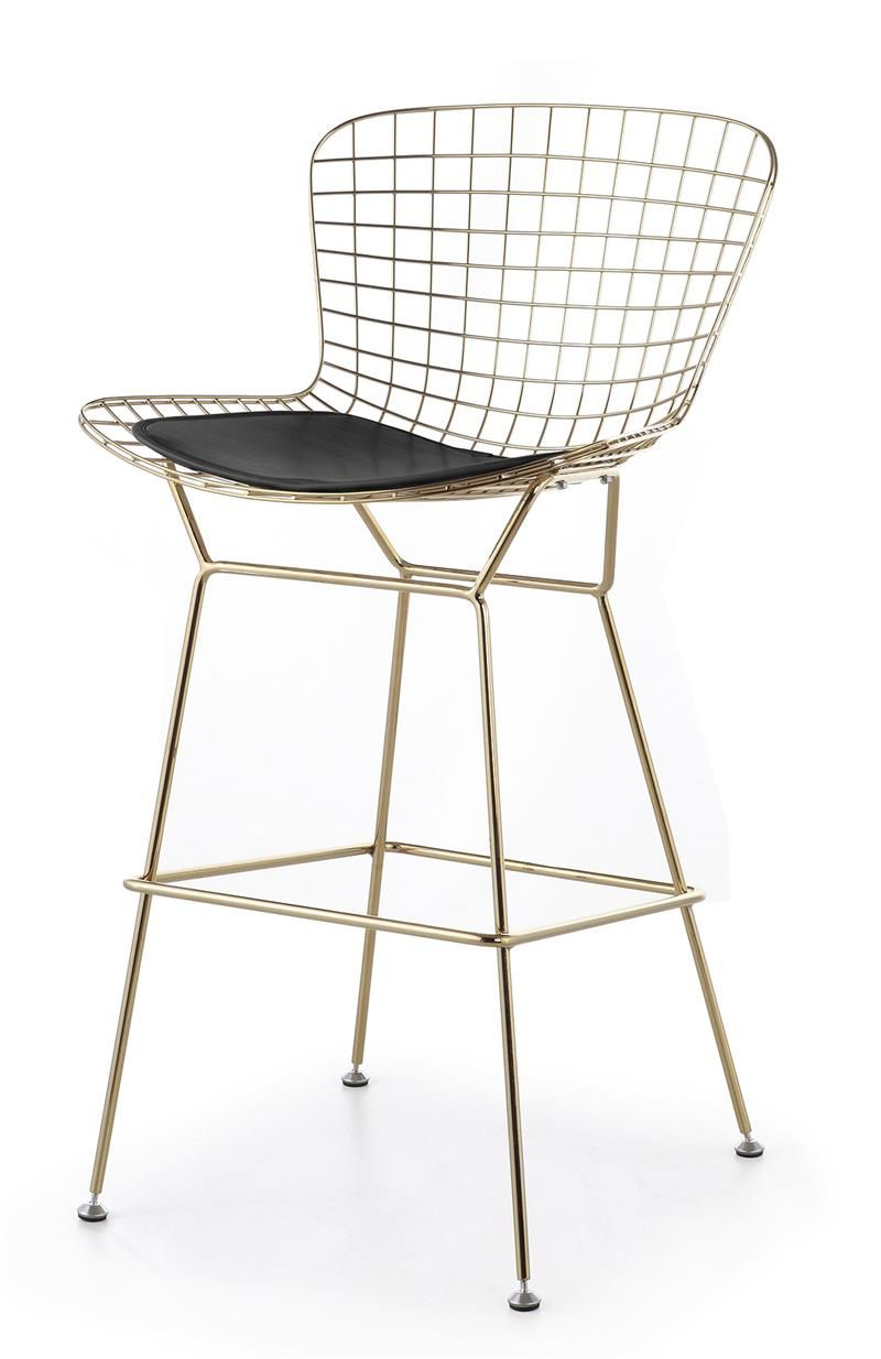 Bertoia Wire Counter Stool In Gold Finish - Bar & Counter Stools
