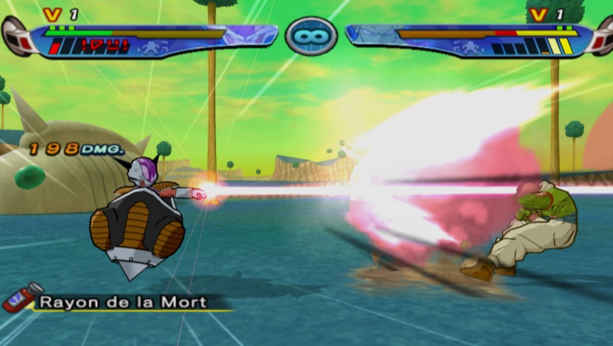 Frieza In His Personal Vessel Shoots Nail With A Finger Beam Attack In Dragonball Z Budokai 3 Freeza Mod In Dbzb3 Mort