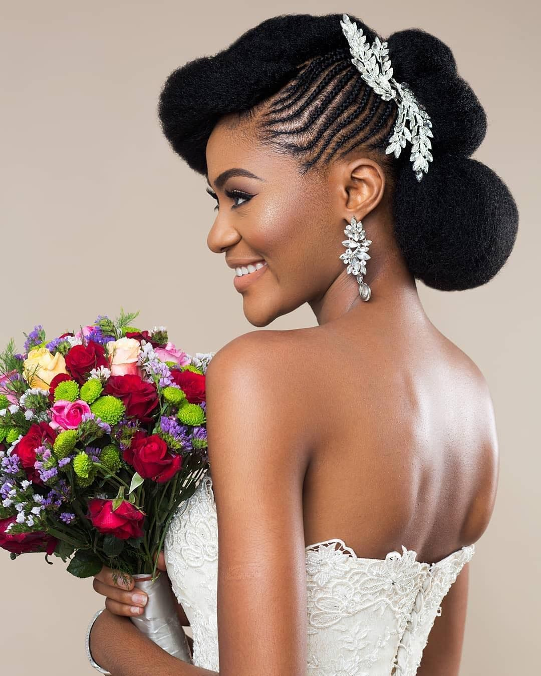 African Sweetheart Weddings On Instagram Team Natural Hair 1193 Nhs Makeup Ufelimaria Natural Hair Bride Hair Styles Wedding Hairstyles