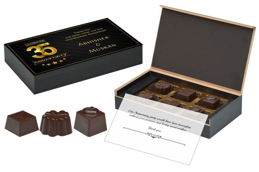 Best Return Gifts For Marriage Anniversary 6 Chocolate Box