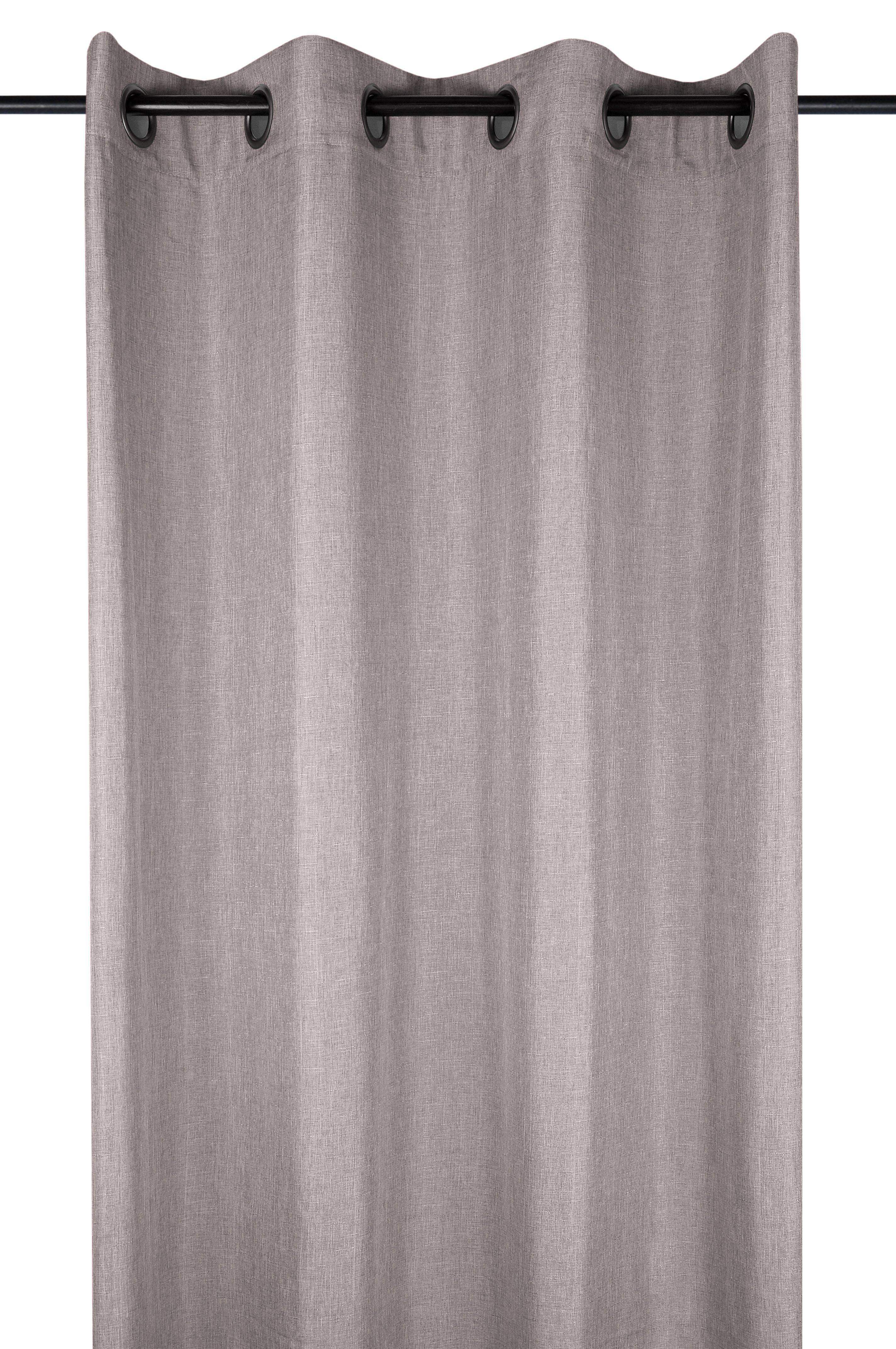 8f191901cde7cd Rideau uni couleur taupe 140x260cm à œillets BEA - Infos et Dimensions  Largeur   140 cm