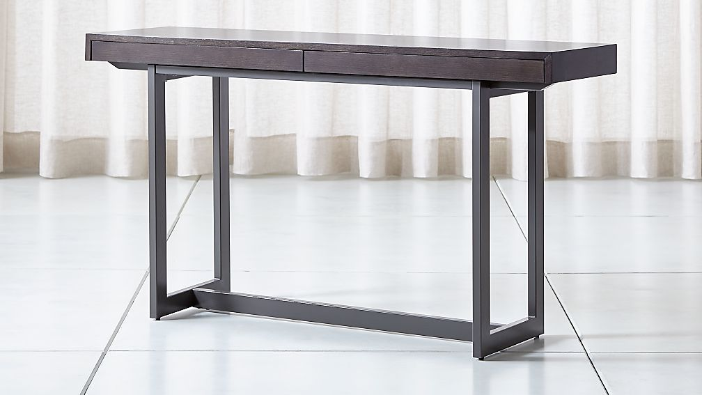 Archive Grey Console Table Reviews Crate And Barrel In 2020 Gray Console Table Sofa Table With Storage Living Room Console