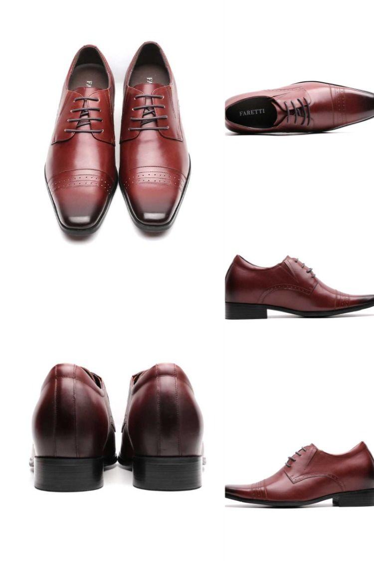 Eleganckie Buty Meskie Skorzane Sznurowane Z Ukrytym Podwyzszeniem 8cm Floriano Do Slubu Biznesu Dress Shoes Men Dress Shoes Oxford Shoes