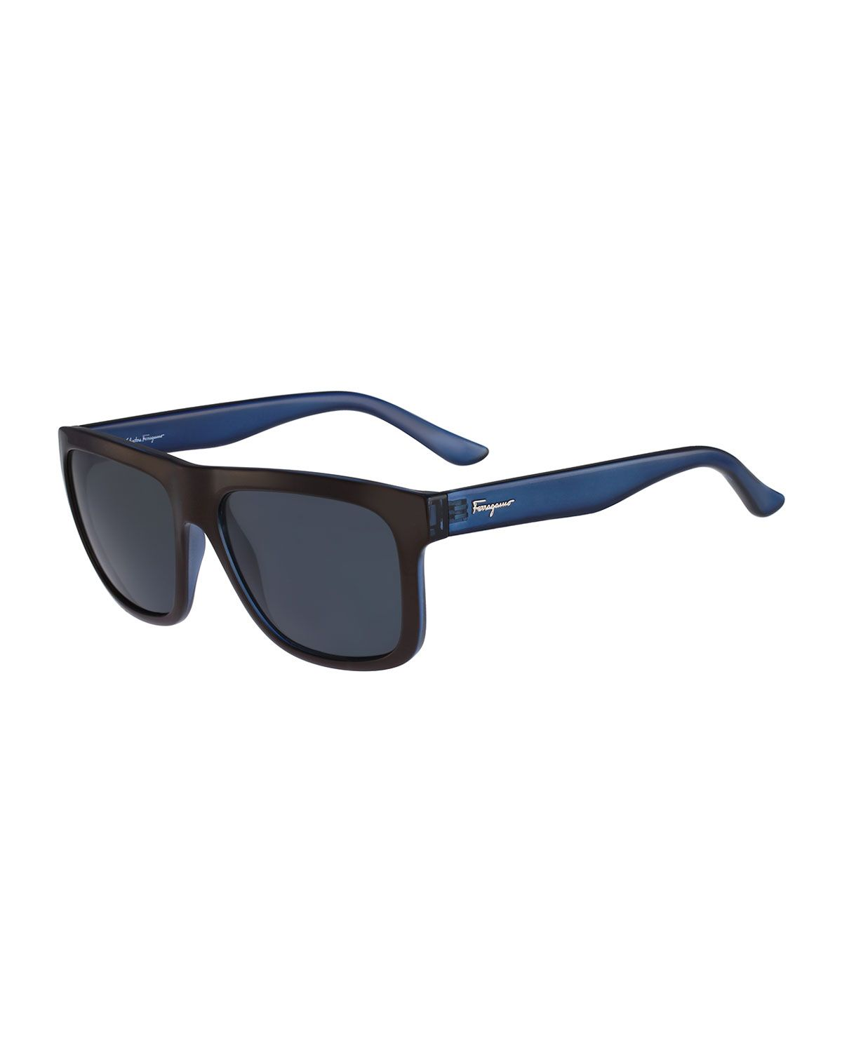 e77922f14c Salvatore Ferragamo Color Block Flat-Top Plastic Sunglasses
