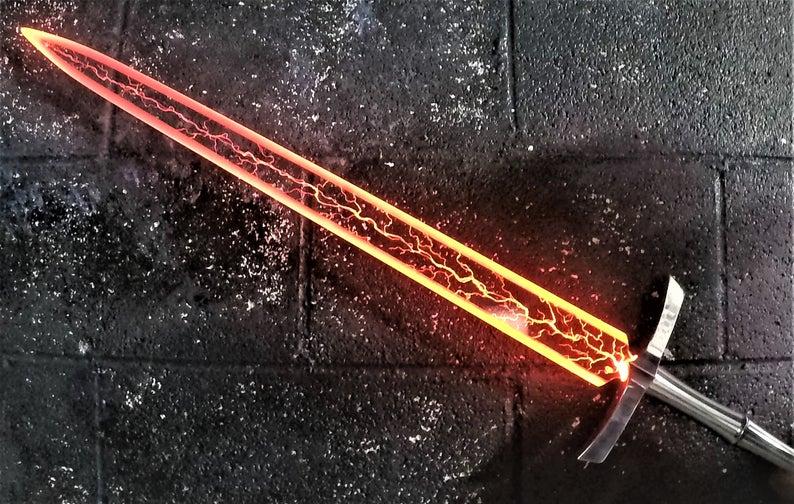 Straight Ripper Blade For Star Wars Jedi Sith Broadsword Etsy Lightsaber Design Custom Lightsaber Cool Swords