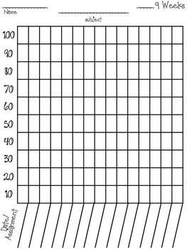 Data Notebook Student Graphing / Monitoring **ALL SUBJECTS