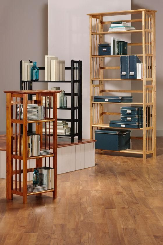 Folding Stacking Multimedia Storage Unit Set