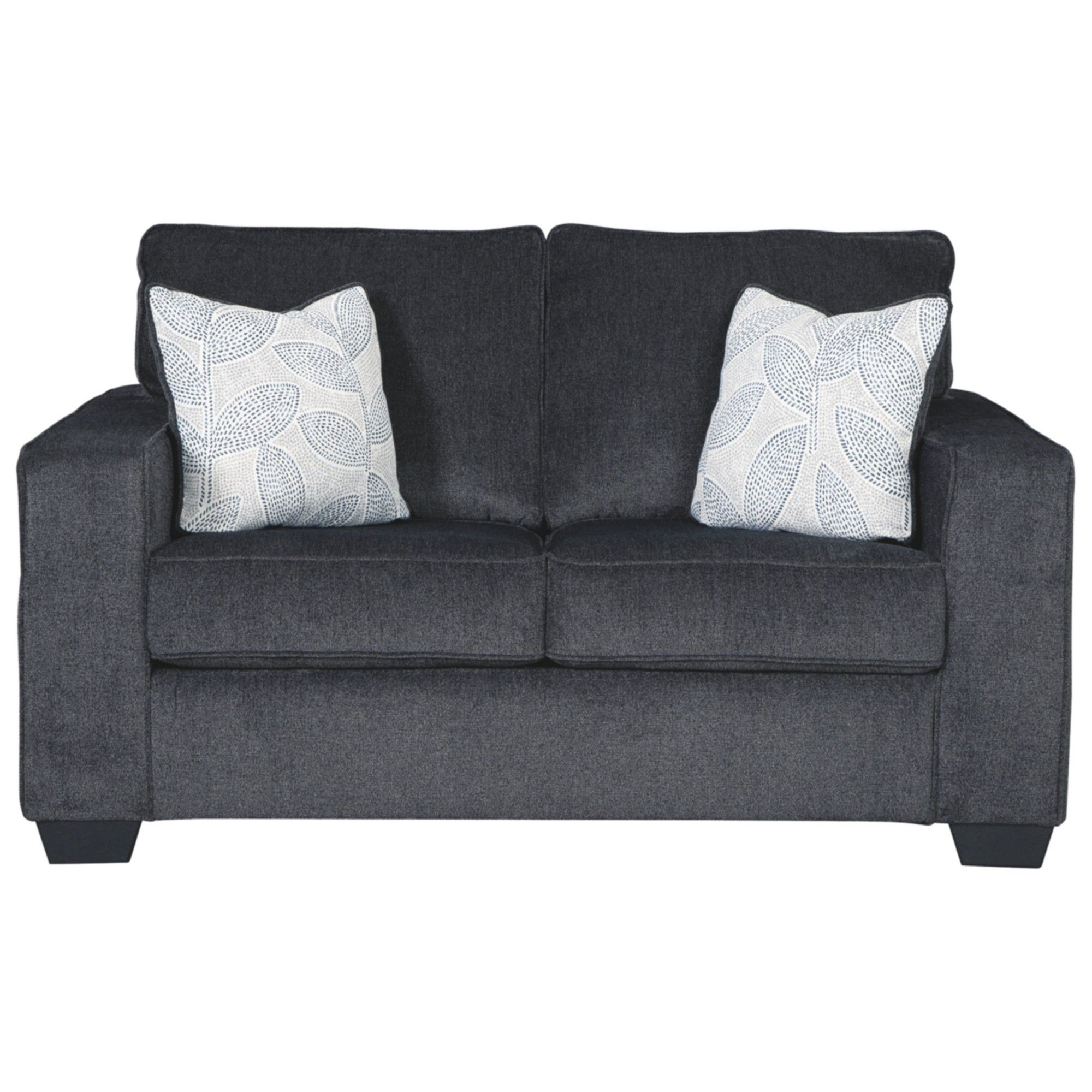 Wondrous Signature Design By Ashley Altari Loveseat Slate Gray Machost Co Dining Chair Design Ideas Machostcouk