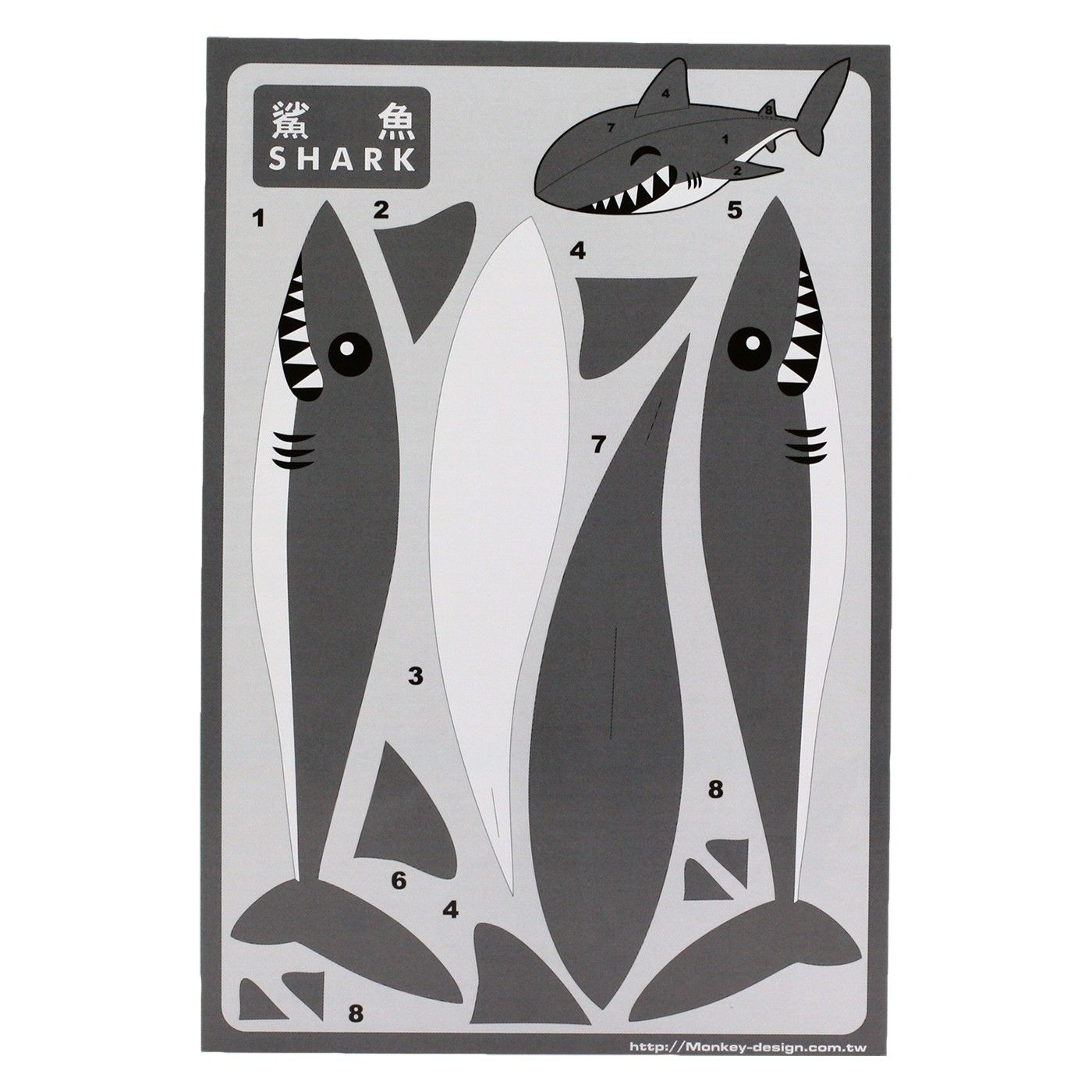 Shark Paper Toy : Articulated fun http pinterest pearlswithplaid