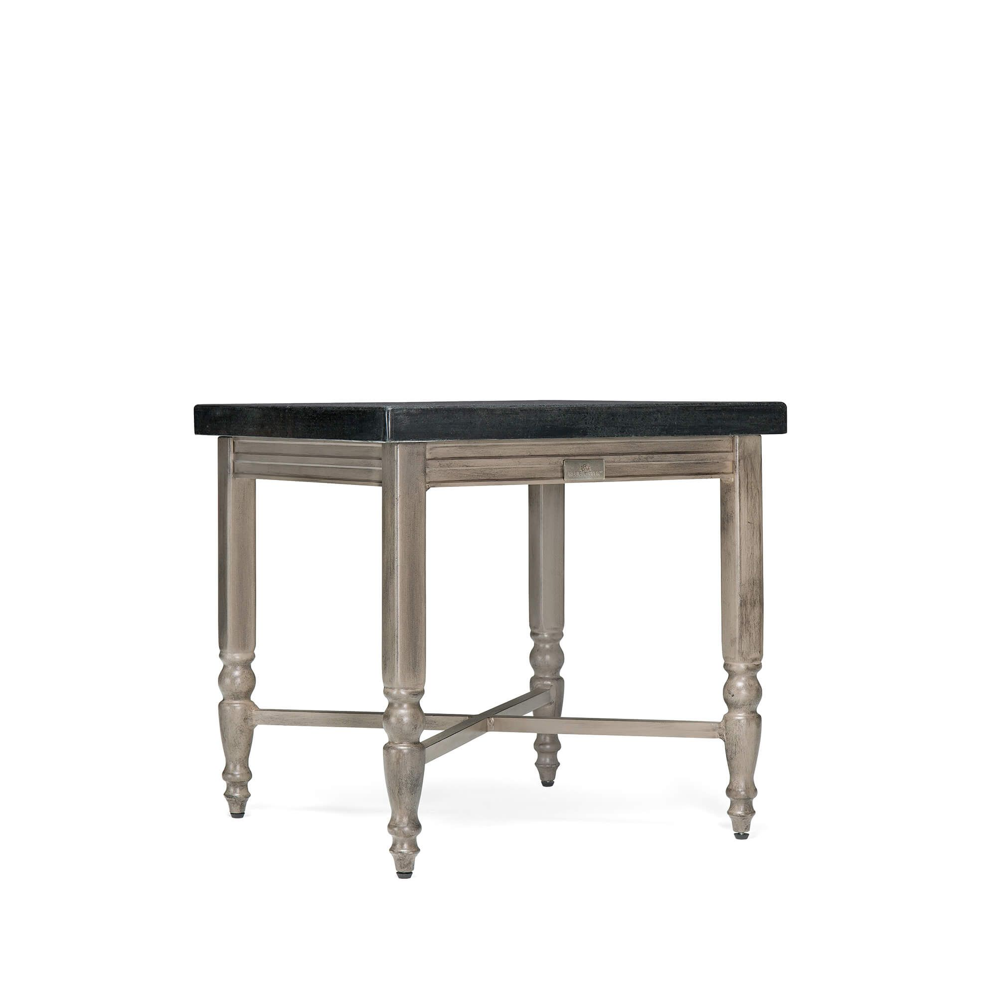 Saylor Outdoor Side Table With Stone Table Top Outdoor Side Table Stone Table Top Aluminum Table