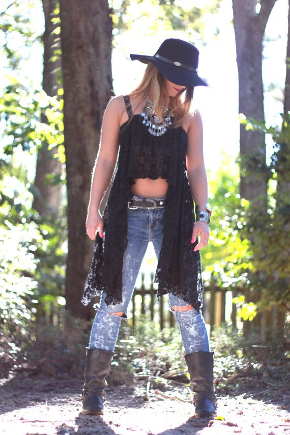 Music festival lace crop top Young and famous by TrueRebelClothing