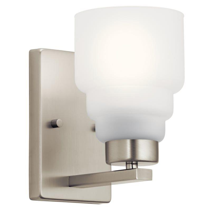 "Photo of Kichler 55010 Vionnet 9 ""Tall Bathroom Sconce Brushed Nickel Indoor Lighting Bathroom Fixtures Bathroom Sconce"