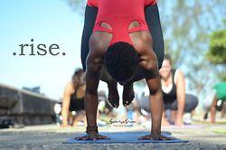 "rise  ""crow pose""  bakasana  yoga girl power yoga yoga"