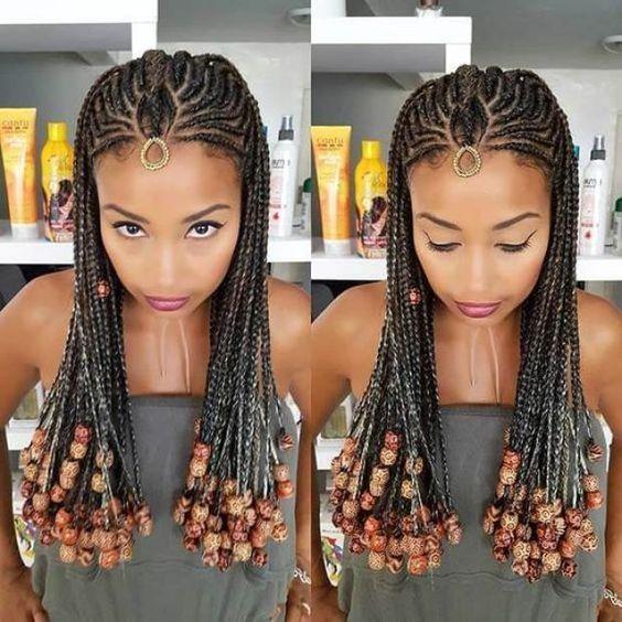 Fulani Braids With Loose Cascading Plaits #fulanibraids #braids ❤ There's no... #Braids #Cascading #Fulani #fulanibraids #fulanibraids #Loose #Plaits #x2764