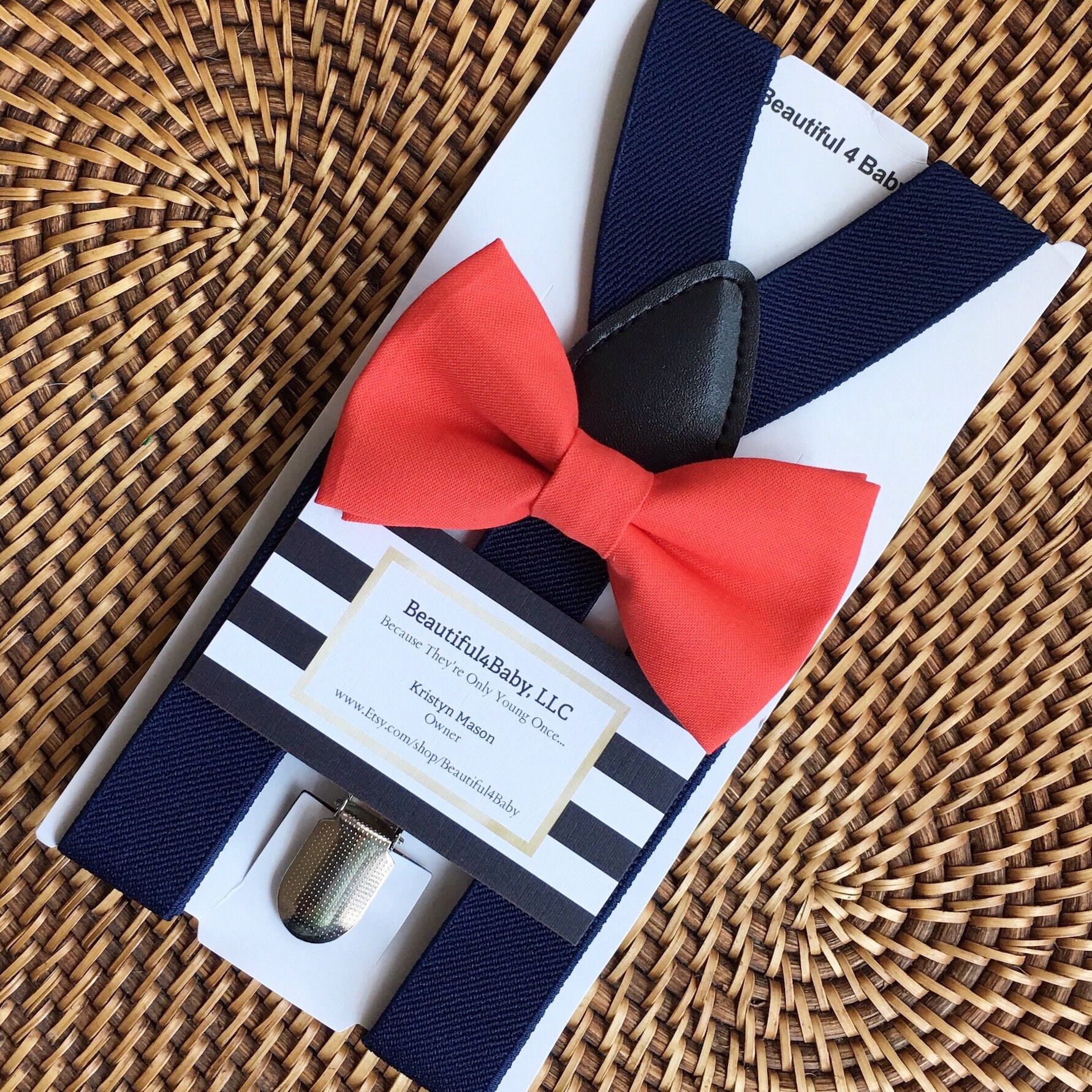 Coral baby bow tie toddler bow tie coral baby bow tie